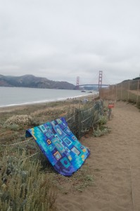 Golden Gate Bridge oh and one of my quilts