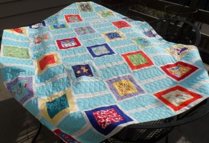full quilt on the deck