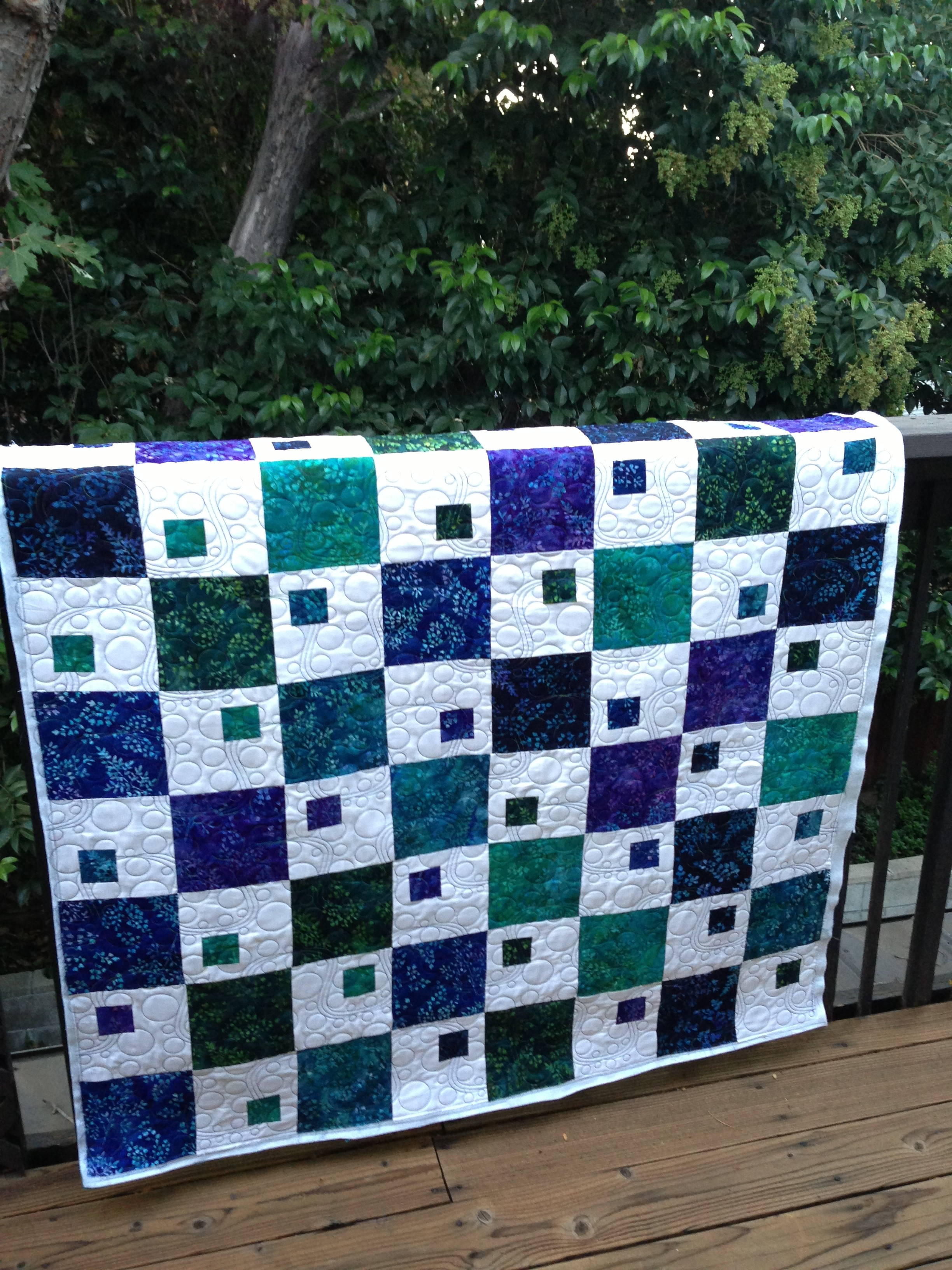 Leapfrog quilt is all done!