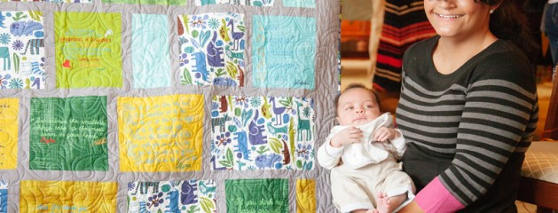Cara's Baby Shower Quilt – first finish for 2015!