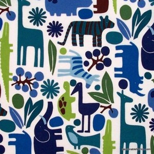 Zoo themed fabric which became the focus fabric