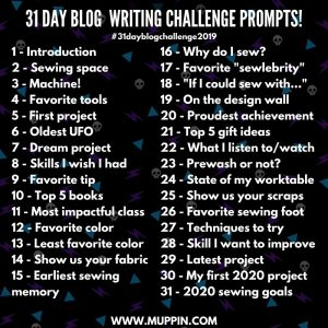The 2019 31 Day Blog Writing Challenge!